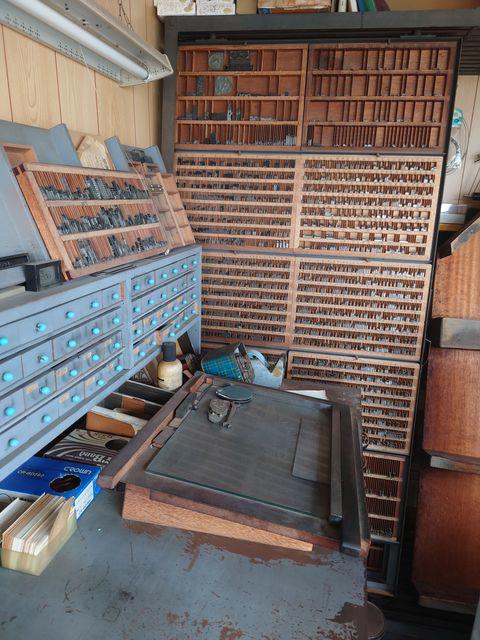 京都市内 活字、印刷機、備品一式